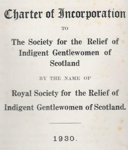The Society's first Royal Charter